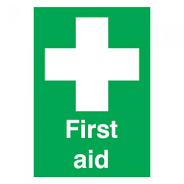 First aid Sign Laminated Board