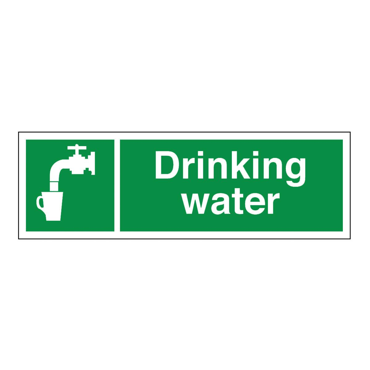 Drinking Water Sign Laminated Board