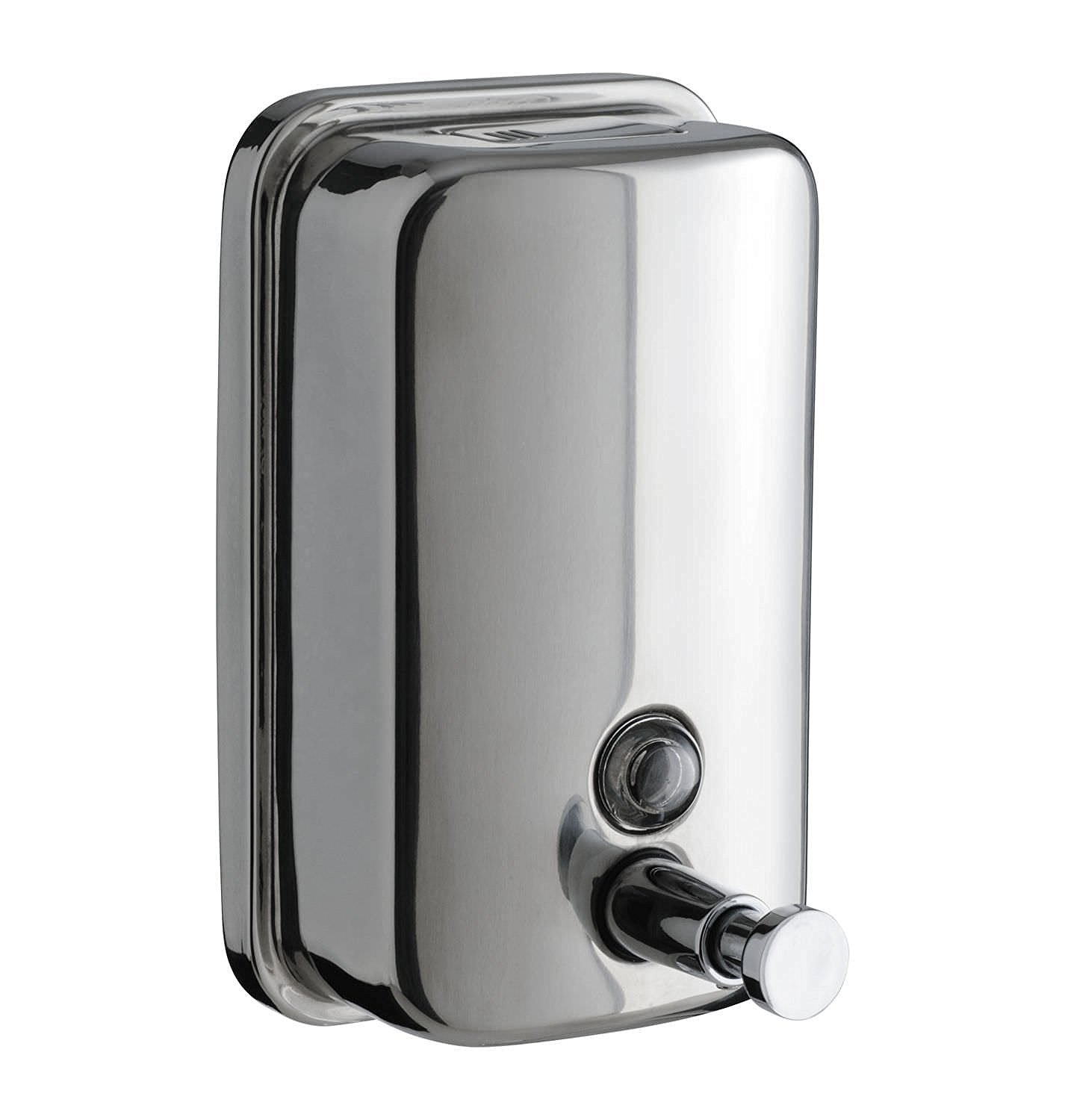 Stainless steel soap dispenser wall mounted
