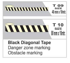 Black Diagonal Tape