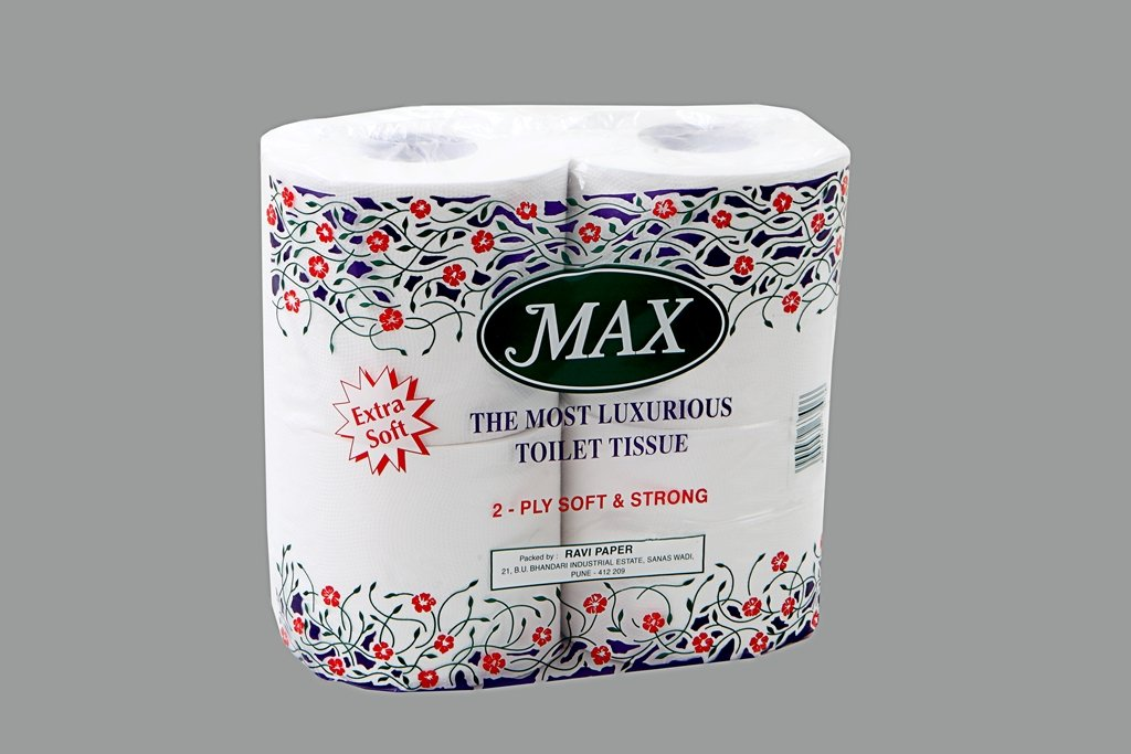 MAX Toilet Tissue Paper 2 PLY (PACK OF 3)