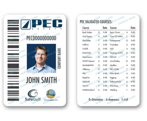 PEC REPLACEMENT CARD