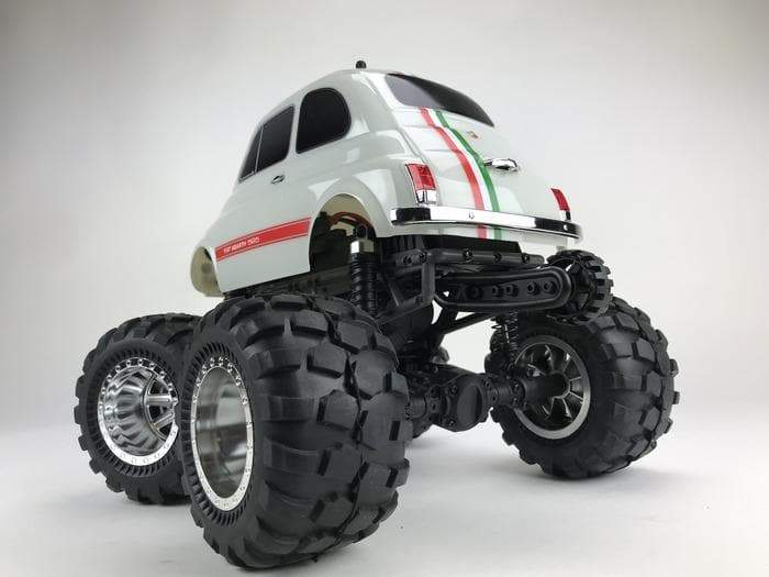 8910 Fiat Abarth 595  1/12 Scale 2WD RTR Monster Truck Q-Series - Cen Racing USA
