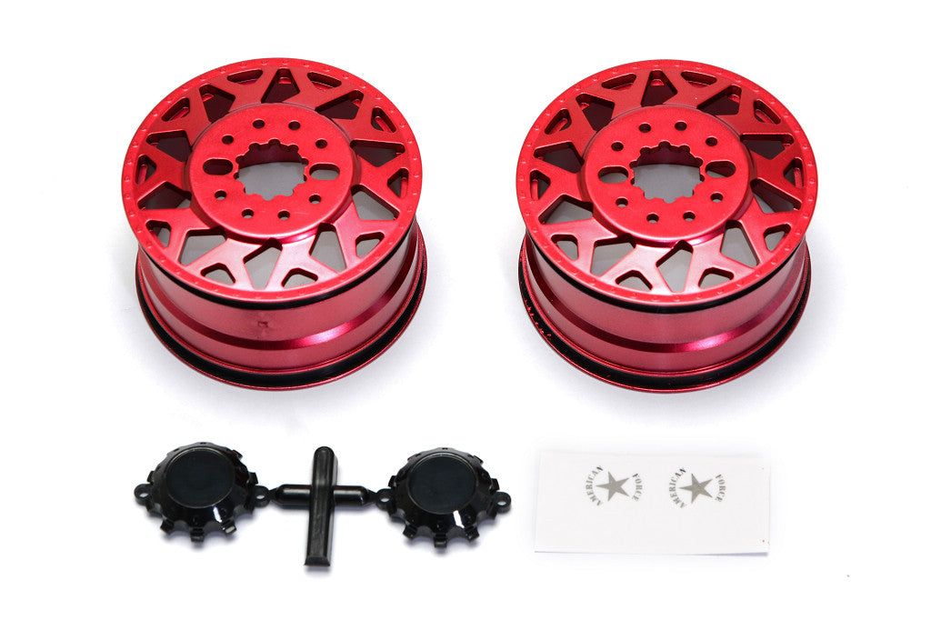 CD0601 F450 SD American Force H01 CONTRA Wheel (Red, w/ blk cap) DL-Series - Cen Racing USA