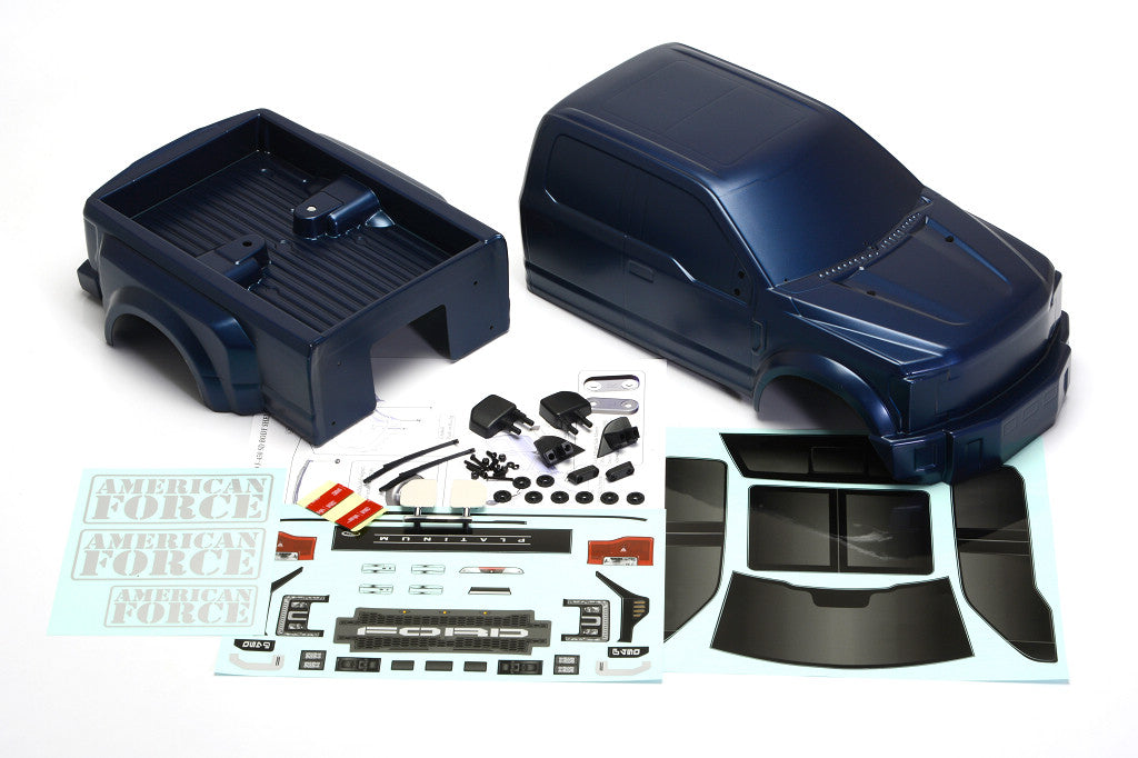 CD0902 F450 SD FORD F-450 SD Complete Body Set (Blue Galaxy) DL-Series - Cen Racing USA