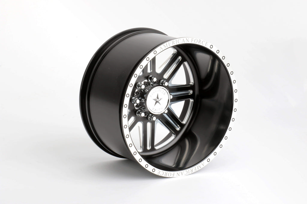 CKR0522 Forged Alloy CNC American Force Legend SS8 Wheel (-18,Black) - Cen Racing USA