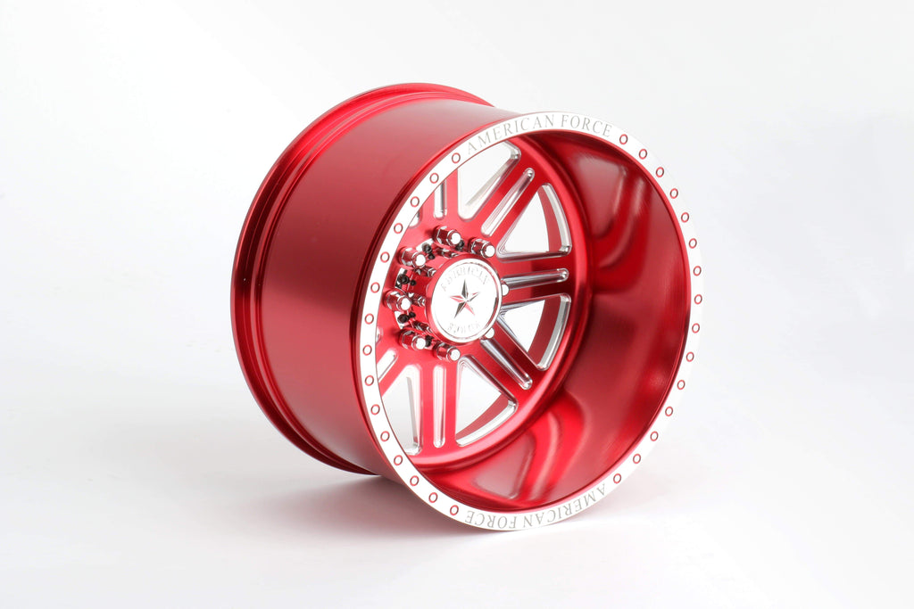CKR0523 Forged Alloy CNC American Force Legend SS8 Wheel (-18,Red) - Cen Racing USA