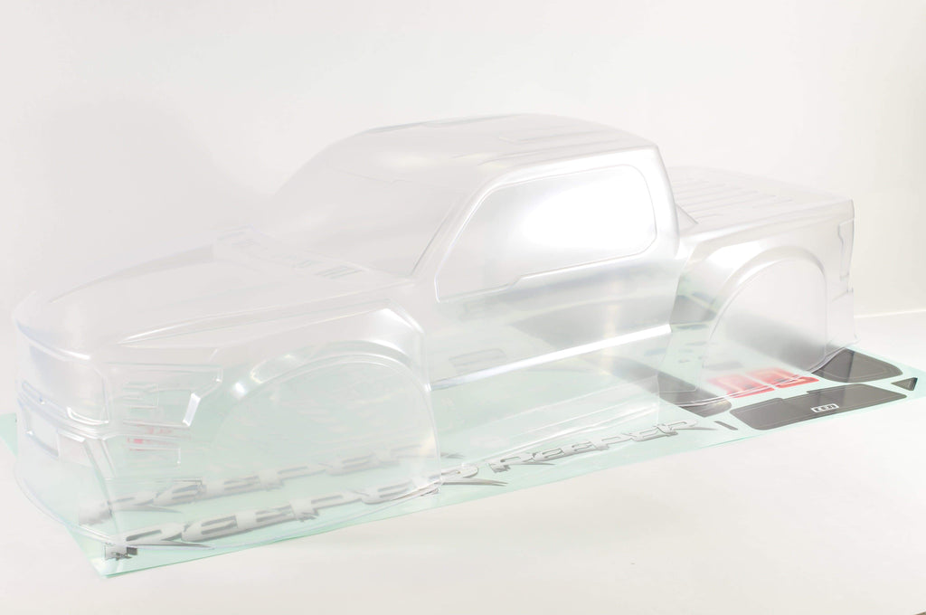 GS151 Reeper Clear Body (With Window and Red Decal sheet) - Cen Racing USA