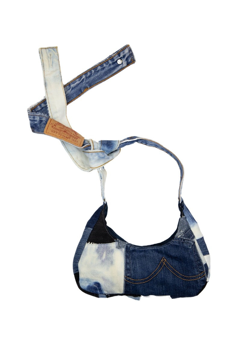 Reworked Denim Mini Shoulder Bag