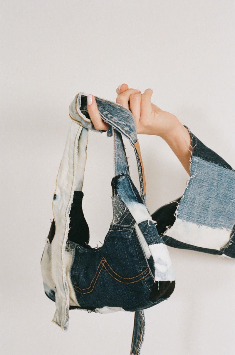 Patchwork Denim Mini Shoulder Bag