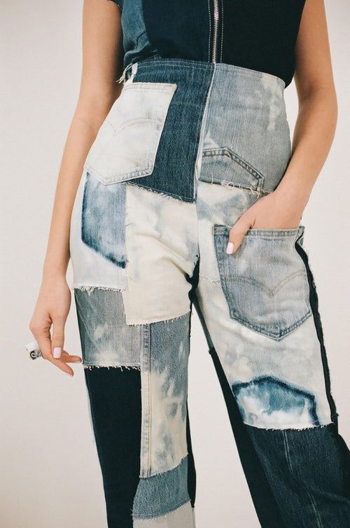 patchwork jeans jaded london