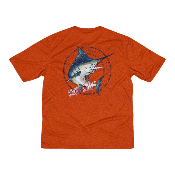 Mens Marlin Heather Moisture WickingTee