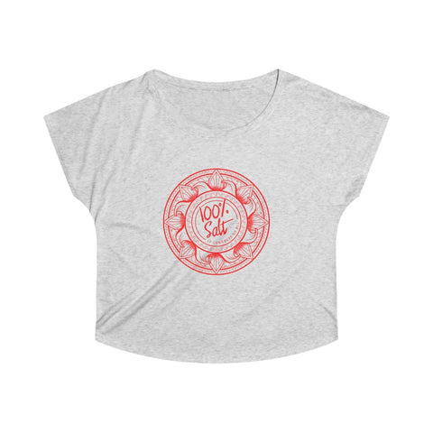 Ladies 100% Salt Connects Us All Dolman Loose Fit Tee