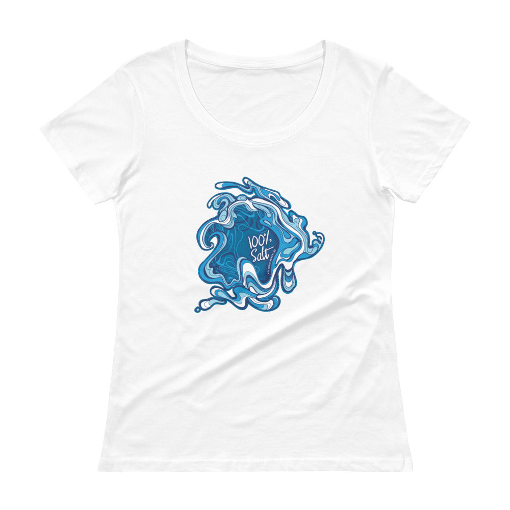 Ladies Go With The Flow Scoopneck T-Shirt