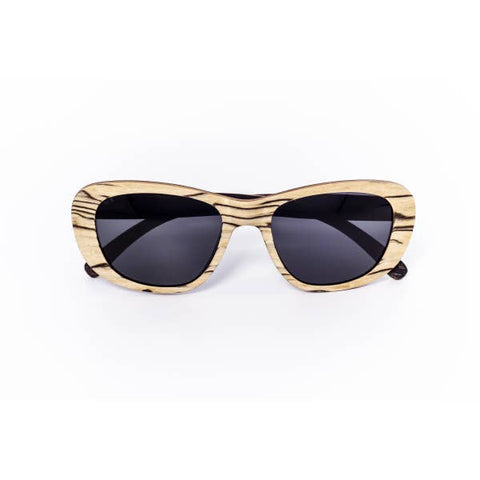 Zebra Wooden Sunglasses