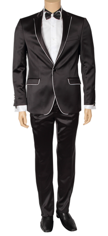 Euro Black - White Trim - Suit