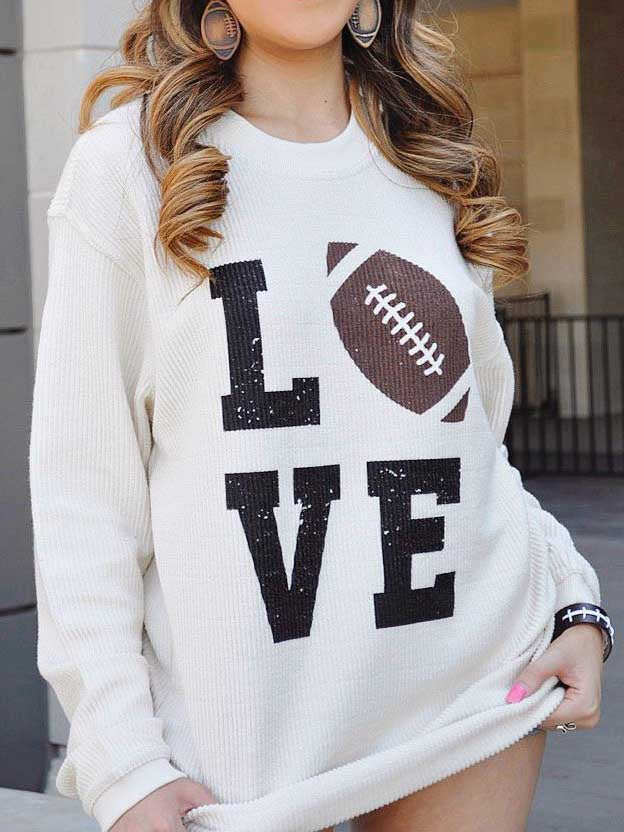 LOVE Printed Pullover
