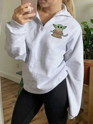 Yoda Baby Hockey Zipper Sweatshirt