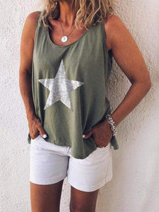 Star Printed Sling Tanks