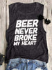 Beer Never Broke My Heart Sleeveless Garment