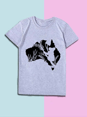 Australian Koala Printed Cotton Top