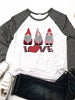 Europe And The United States Valentine's Day LOVE Letter Printing Ladies Casual Loose Long-Sleeved T-Shirt