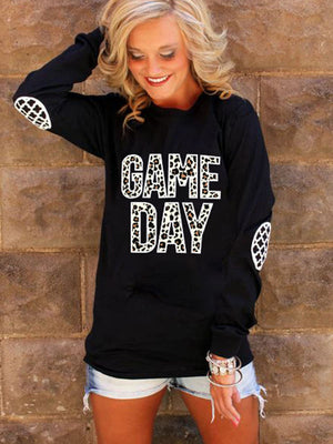 Letter Printed Pullover