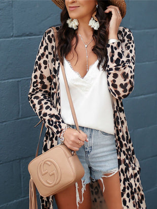 Long Sleeve Leopard Cardigan