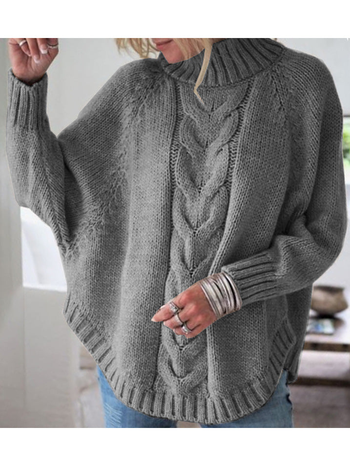 Loose Bat Wing Sleeve Knitted Sweater