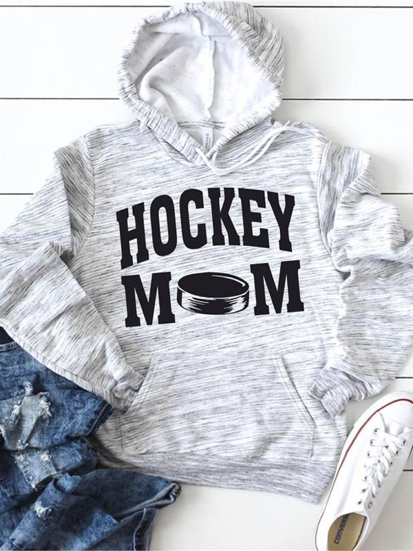 Hockey Mom Hoodies With Pocketed