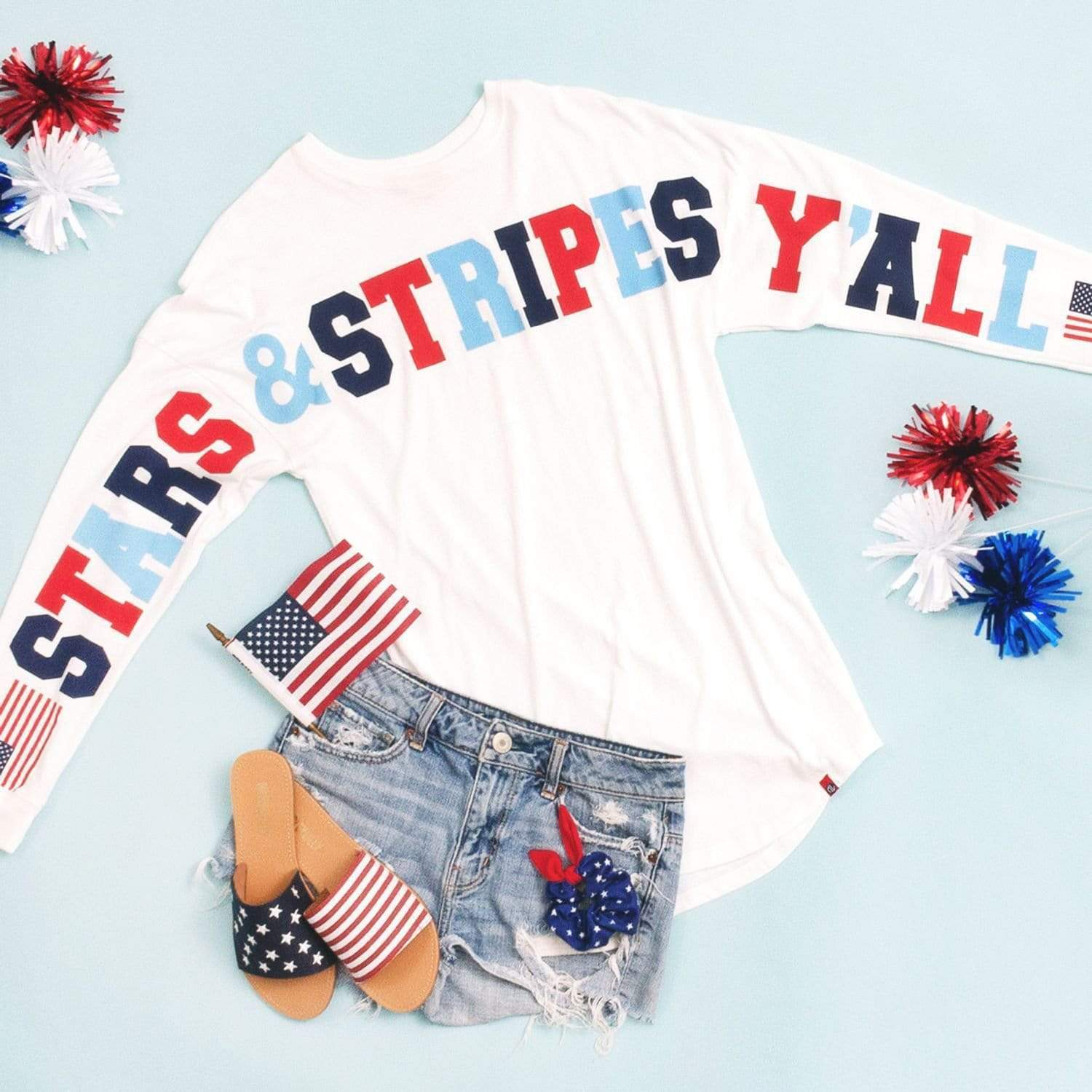Stars and Stripes Y'all Top