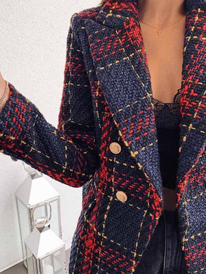 Ladies Christmas Double-Breasted Blazer