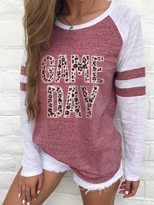 Leopard Game Day Long Sleeve Football T-shirts