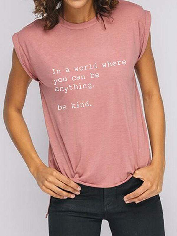 Soft And Comfy Be Kind Roll Tee