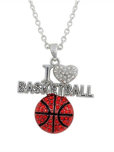 I Love Basketball Necklace