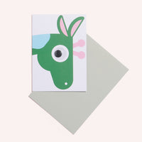 Giraffe Face Greeting Card
