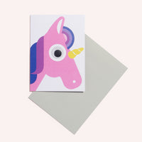 Unicorn Face Greeting Card