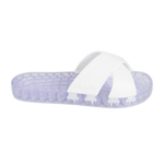 Amalfi - Clear Slide Sandal - White