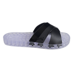 Amalfi - Clear Slide Sandal - Black