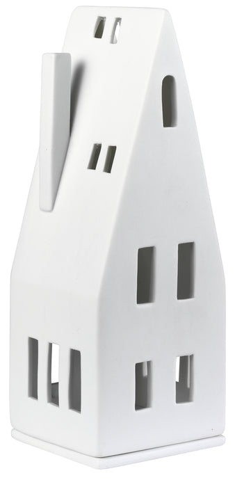 Porcelain Light House With Pitched Roof
