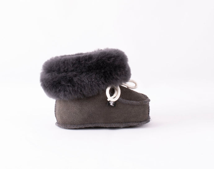 Shepherd of Sweden Gavle Baby Slipper - Asphalt