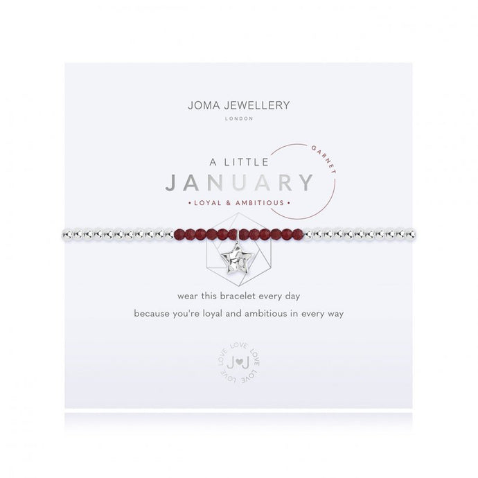 A Little Birthstone Bracelet - January