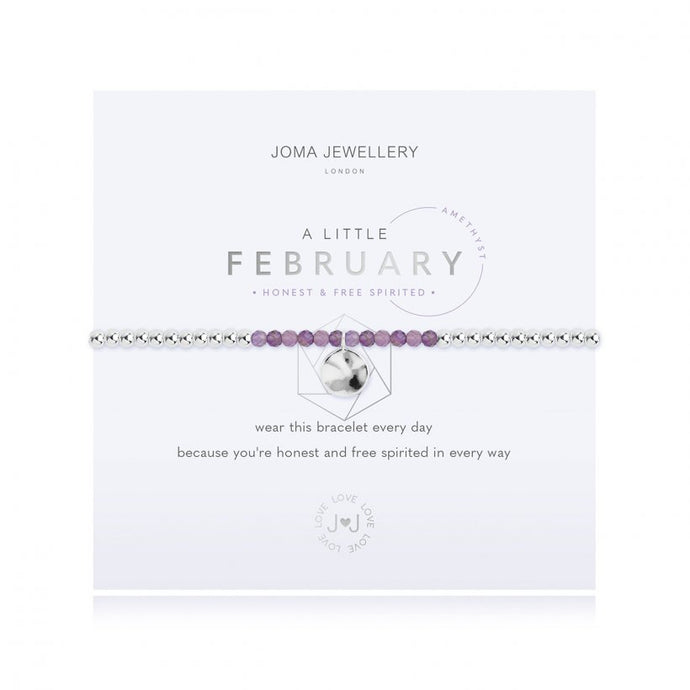A Little Birthstone Bracelet - February