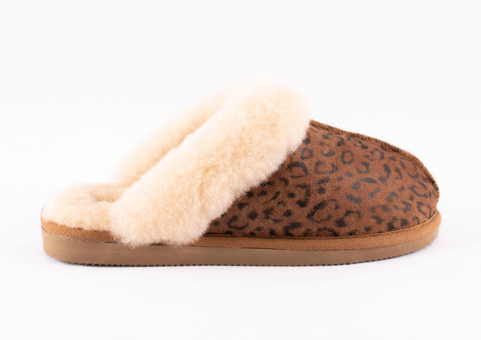 Shepherd Of Sweden Jessica Slipper - Chestnut Leopard