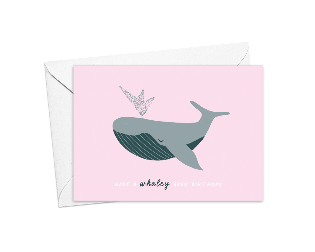 Have A Whaley Good Birthday Card
