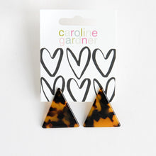 Load image into Gallery viewer, Tortoiseshell Acrylic Triangle Earrings
