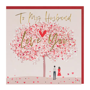To My Husband Love You Valentine's Day Card