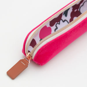 Pink Velvet Small Pencil Case
