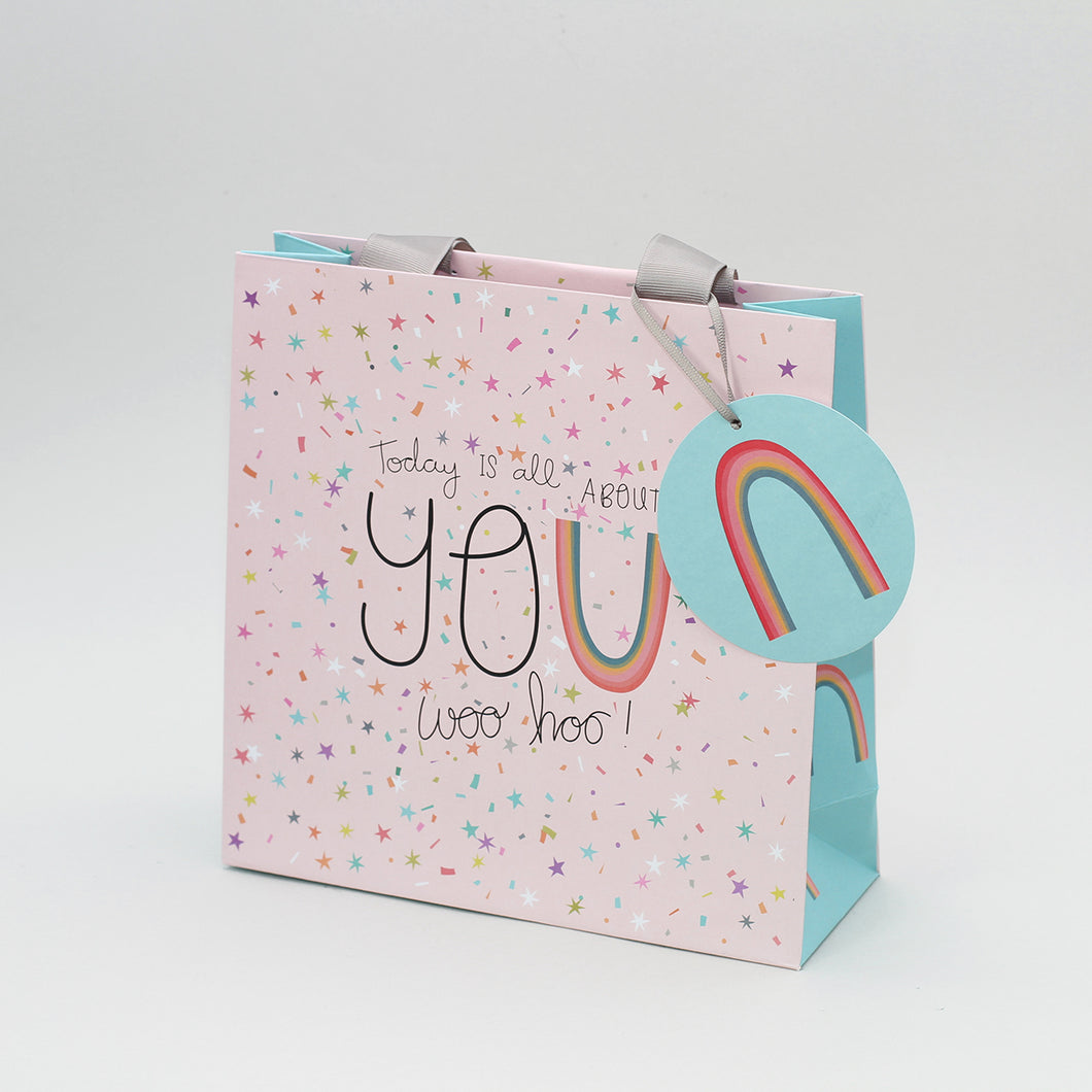 Medium Gift Bag - Rainbow Sprinkles