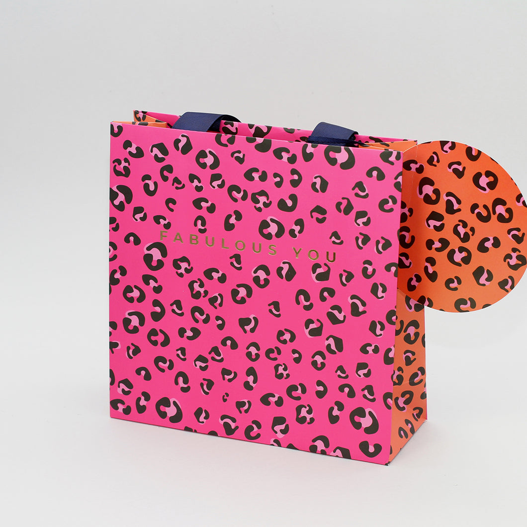 Medium Gift Bag - Leopard
